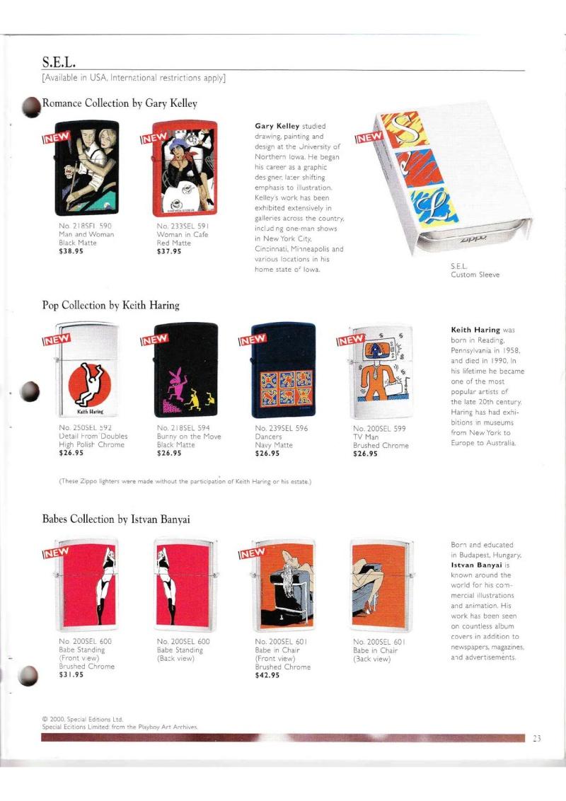 Catalogue ZIPPO Collection 2000 (version américaine) 2314