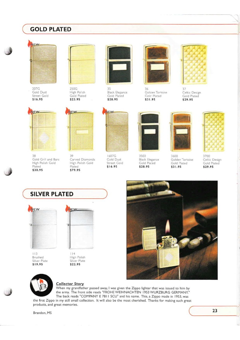 Catalogue ZIPPO Collection 2002 (version américaine) 2315