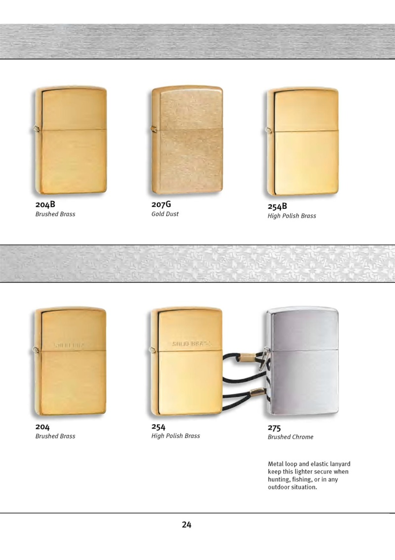 Catalogue ZIPPO 2010 Complete line (version américaine) 2414
