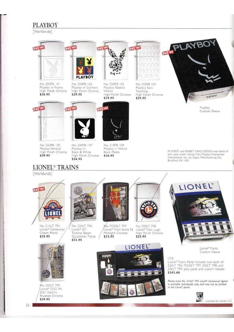 Catalogue ZIPPO Collection 2000 (version américaine) 2416