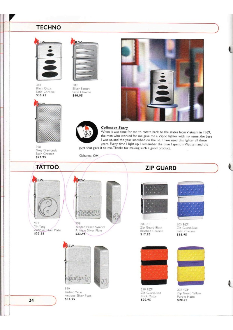 Catalogue ZIPPO Collection 2002 (version américaine) 2417