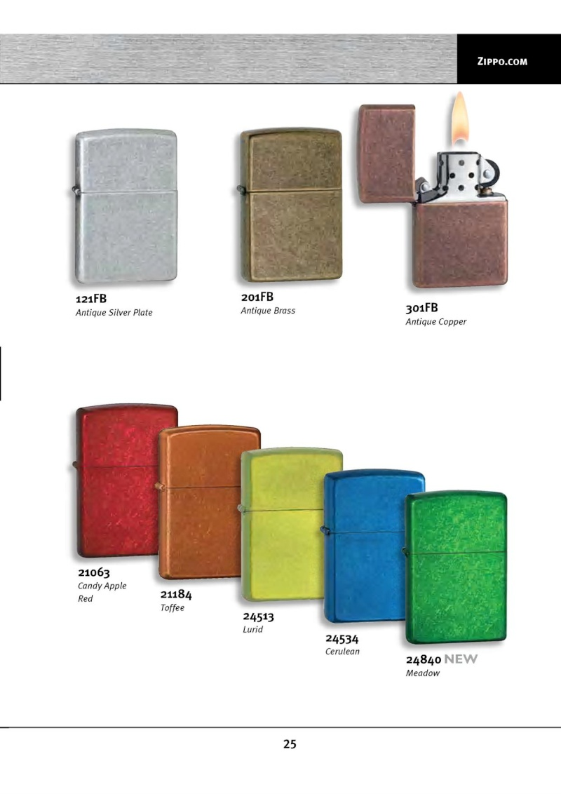 Catalogue ZIPPO 2010 Complete line (version américaine) 2514
