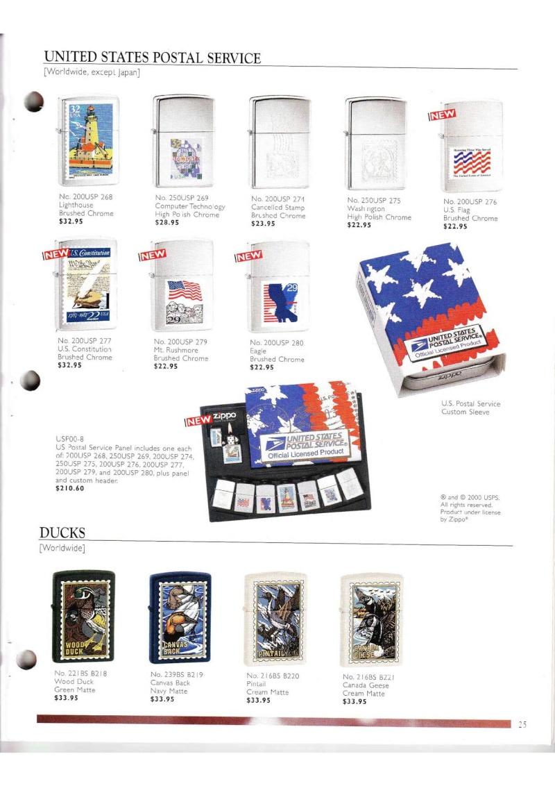 Catalogue ZIPPO Collection 2000 (version américaine) 2515