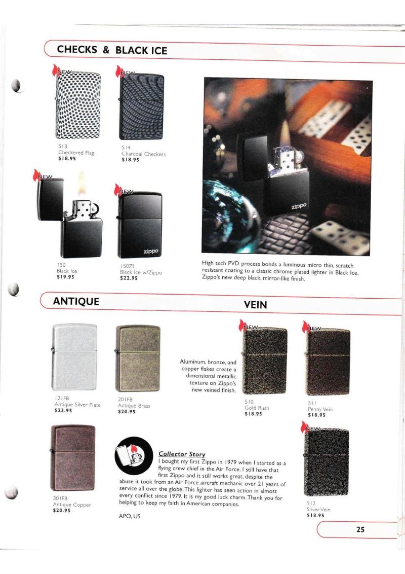 Catalogue ZIPPO Collection 2002 (version américaine) 2516