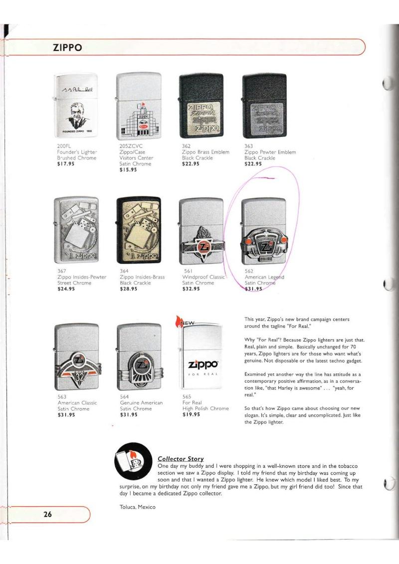 Catalogue ZIPPO Collection 2002 (version américaine) 2616