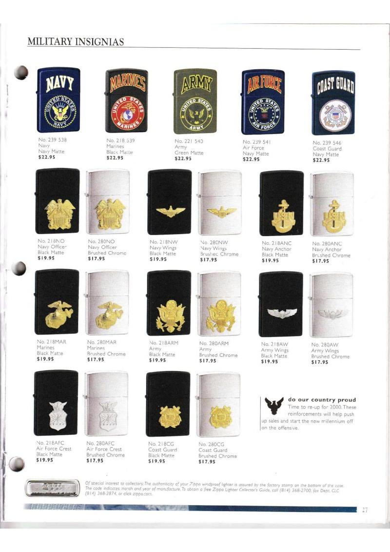 Catalogue ZIPPO Collection 2000 (version américaine) 2714
