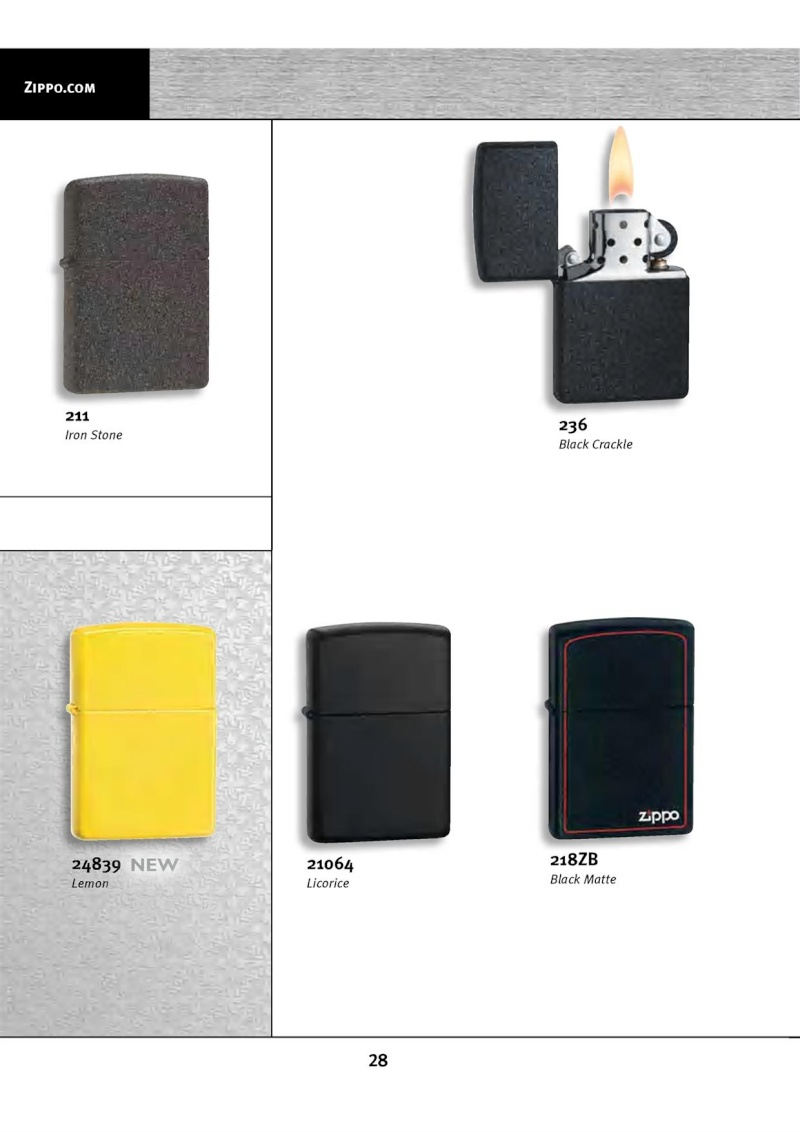 Catalogue ZIPPO 2010 Complete line (version américaine) 2813
