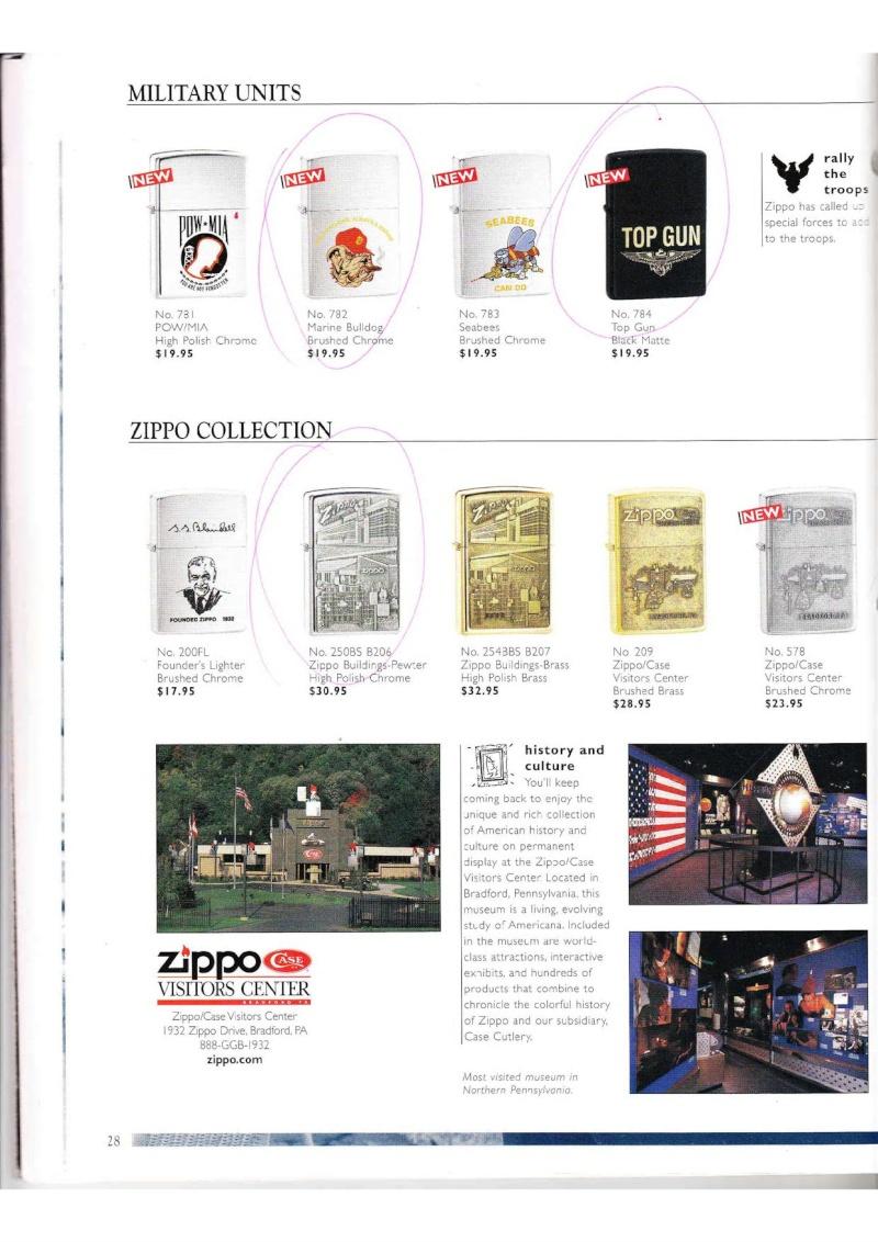Catalogue ZIPPO Collection 2000 (version américaine) 2814