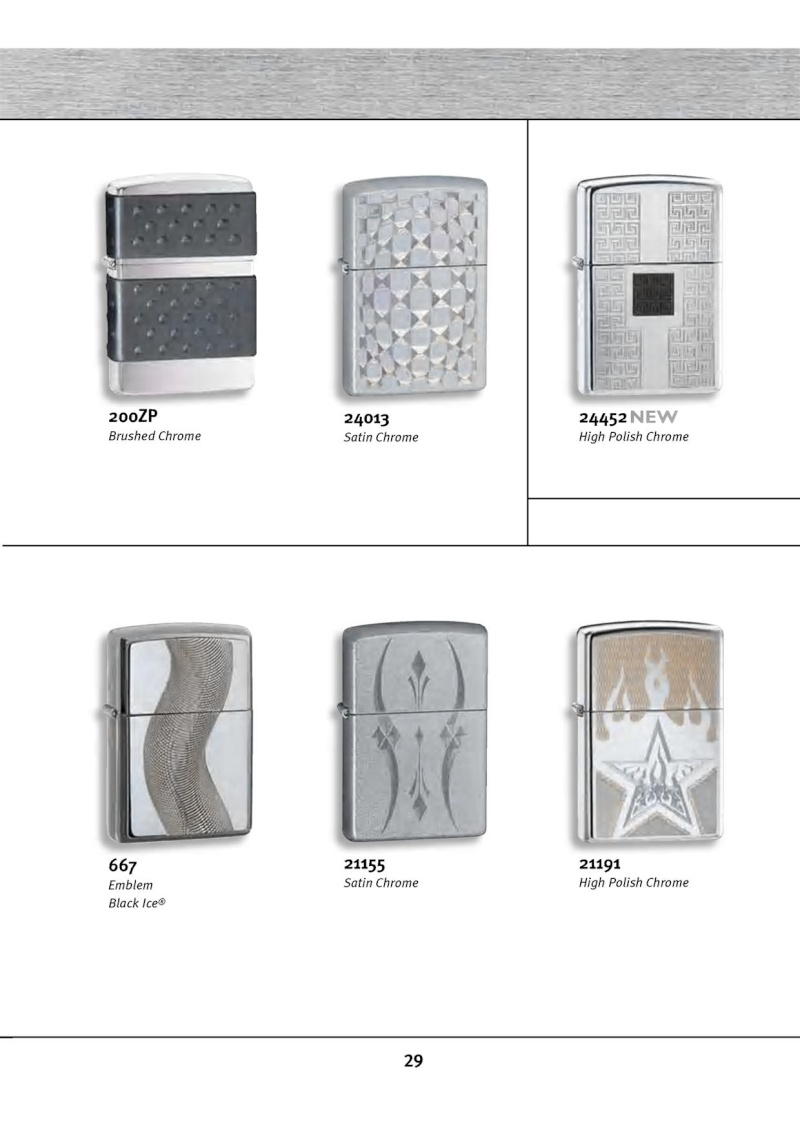 Catalogue ZIPPO 2010 Complete line (version américaine) 2913