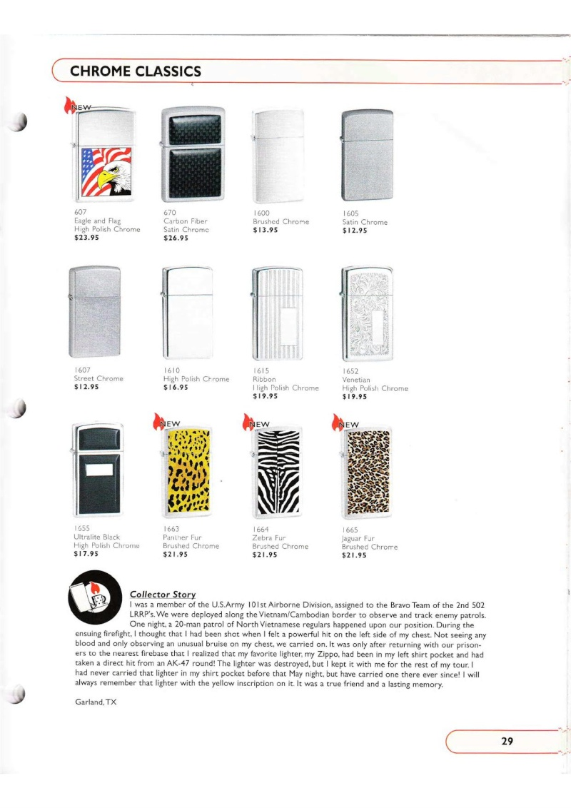 Catalogue ZIPPO Collection 2002 (version américaine) 2915