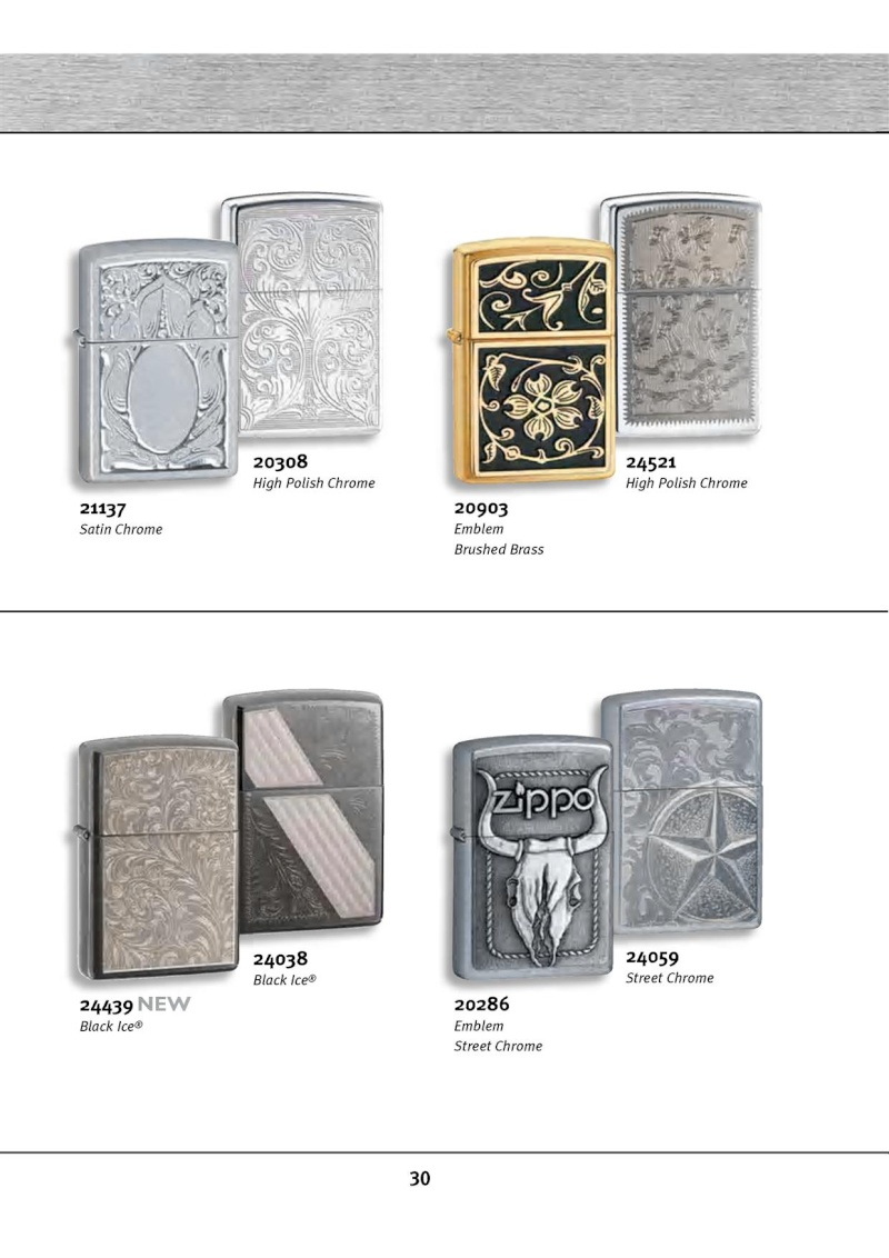 Catalogue ZIPPO 2010 Complete line (version américaine) 3013