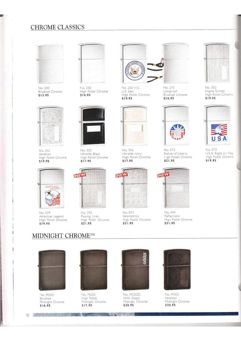 Catalogue ZIPPO Collection 2000 (version américaine) 3014