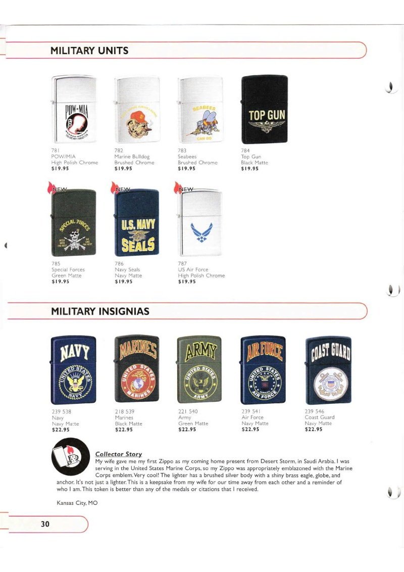Catalogue ZIPPO Collection 2002 (version américaine) 3015
