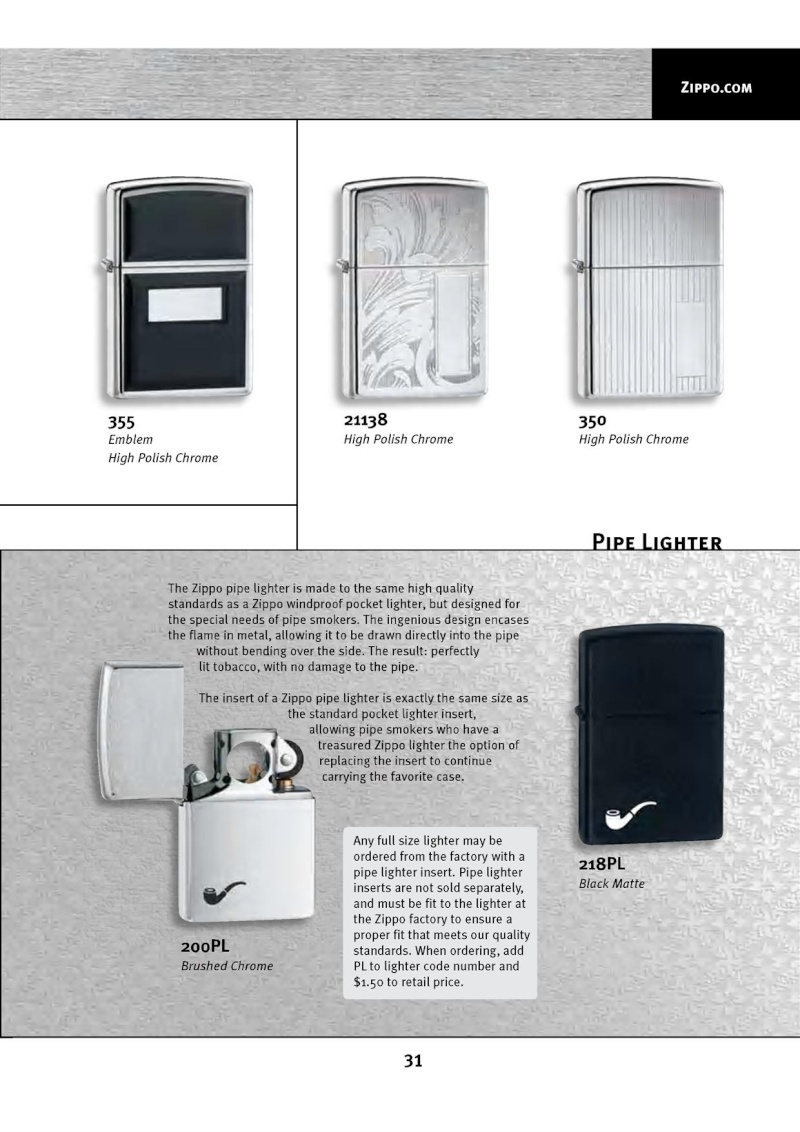 Catalogue ZIPPO 2010 Complete line (version américaine) 3113