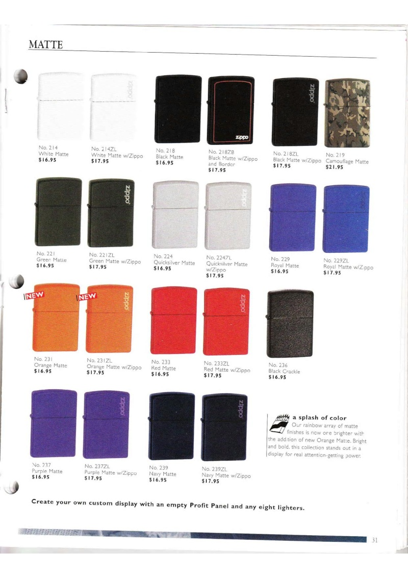 Catalogue ZIPPO Collection 2000 (version américaine) 3114