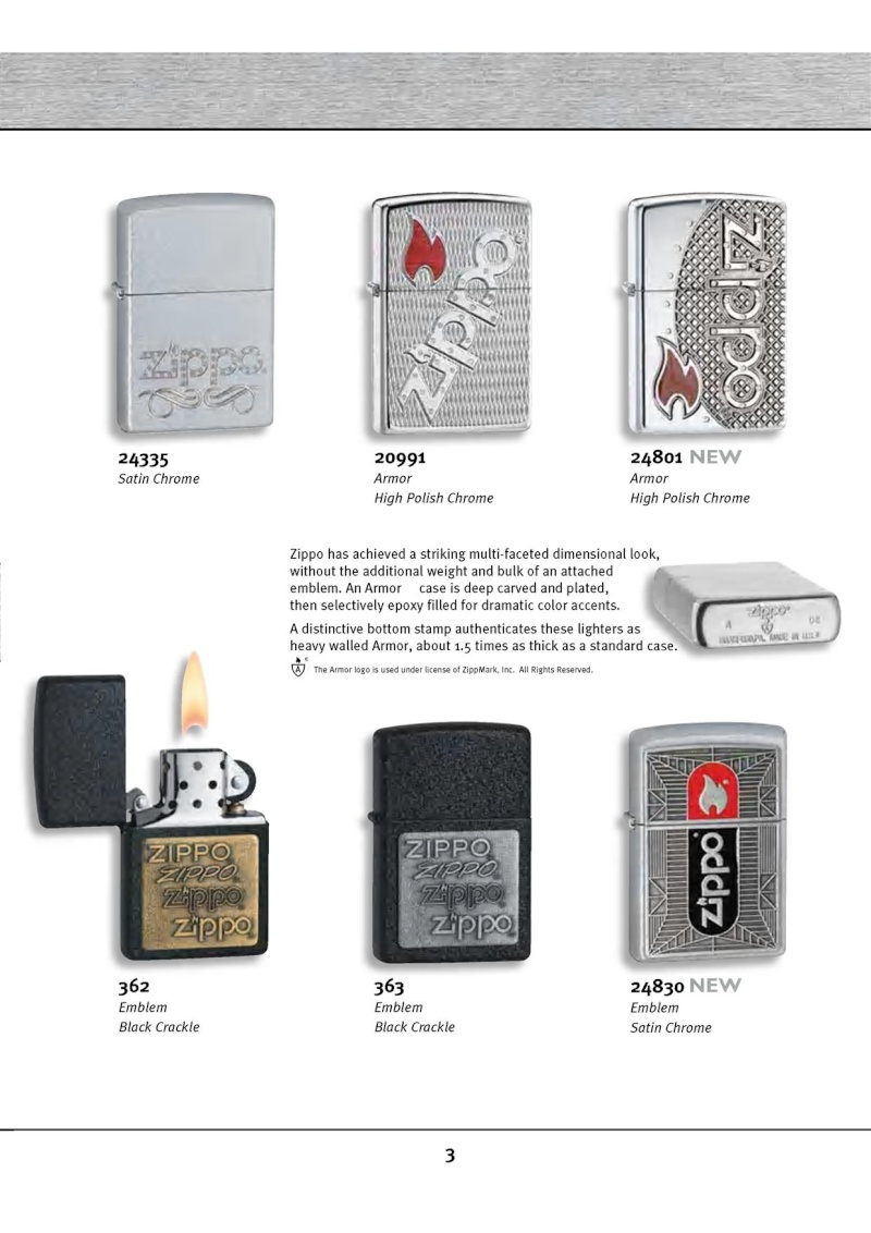 Catalogue ZIPPO 2010 Complete line (version américaine) 313