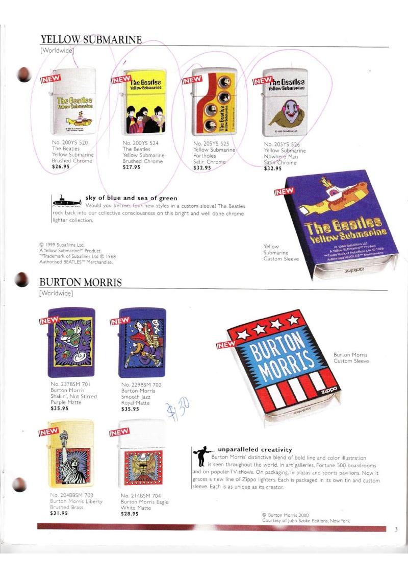 Catalogue ZIPPO Collection 2000 (version américaine) 314