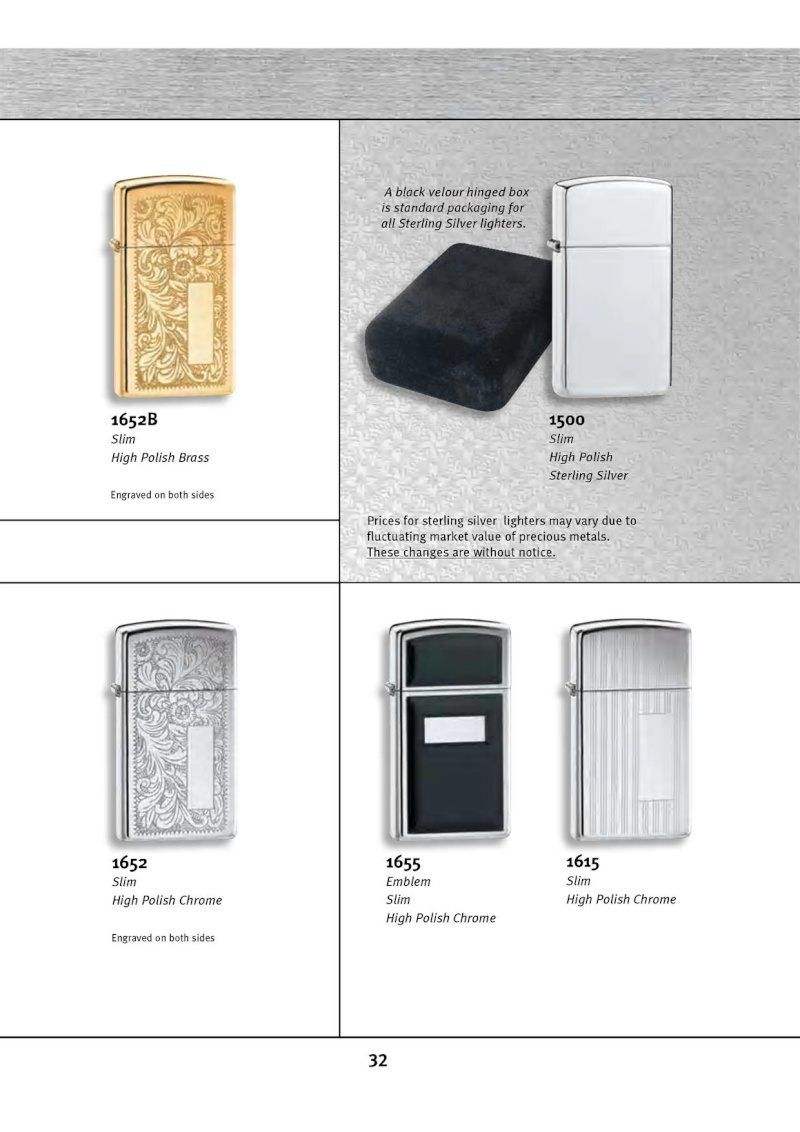 Catalogue ZIPPO 2010 Complete line (version américaine) 3213