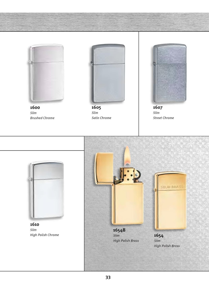 Catalogue ZIPPO 2010 Complete line (version américaine) 3313