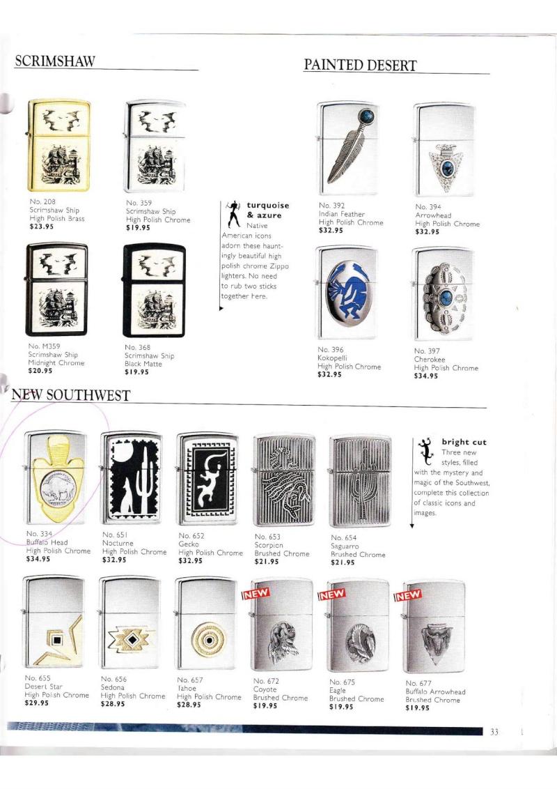Catalogue ZIPPO Collection 2000 (version américaine) 3314