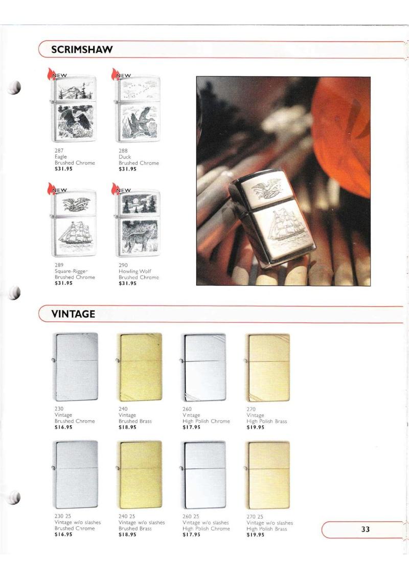Catalogue ZIPPO Collection 2002 (version américaine) 3315