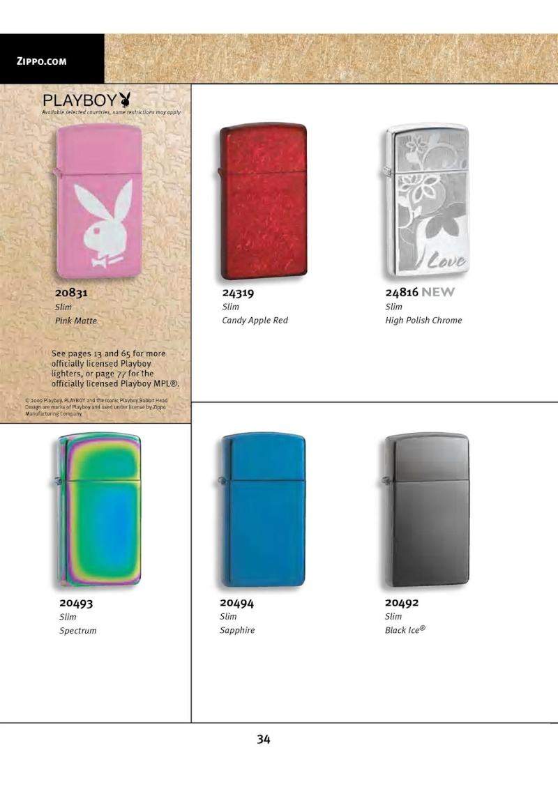 Catalogue ZIPPO 2010 Complete line (version américaine) 3413