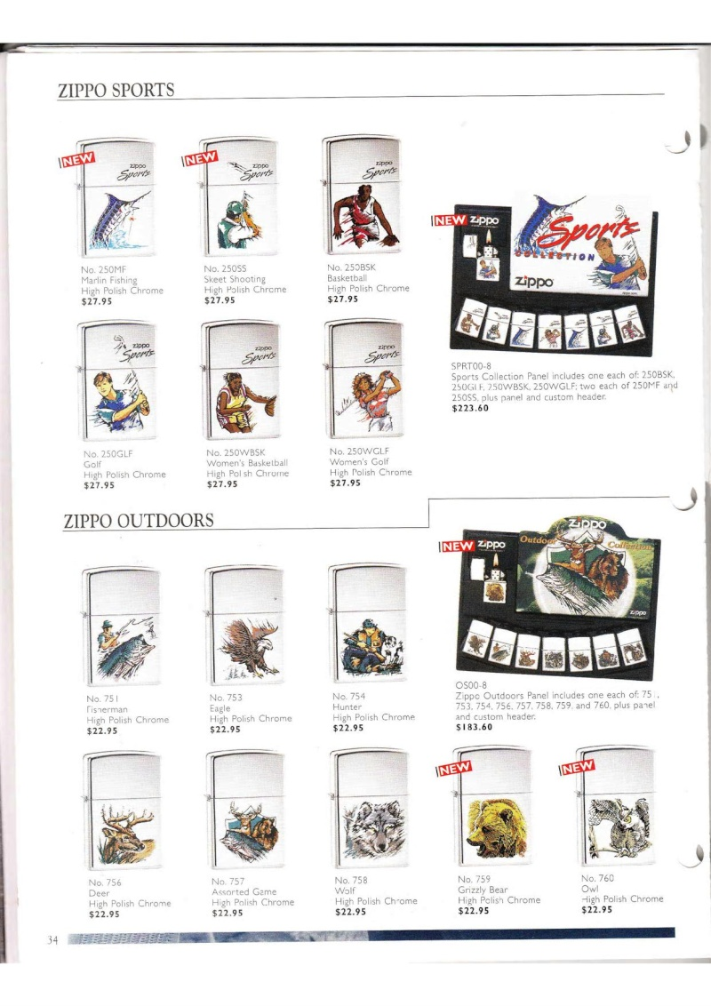 Catalogue ZIPPO Collection 2000 (version américaine) 3414