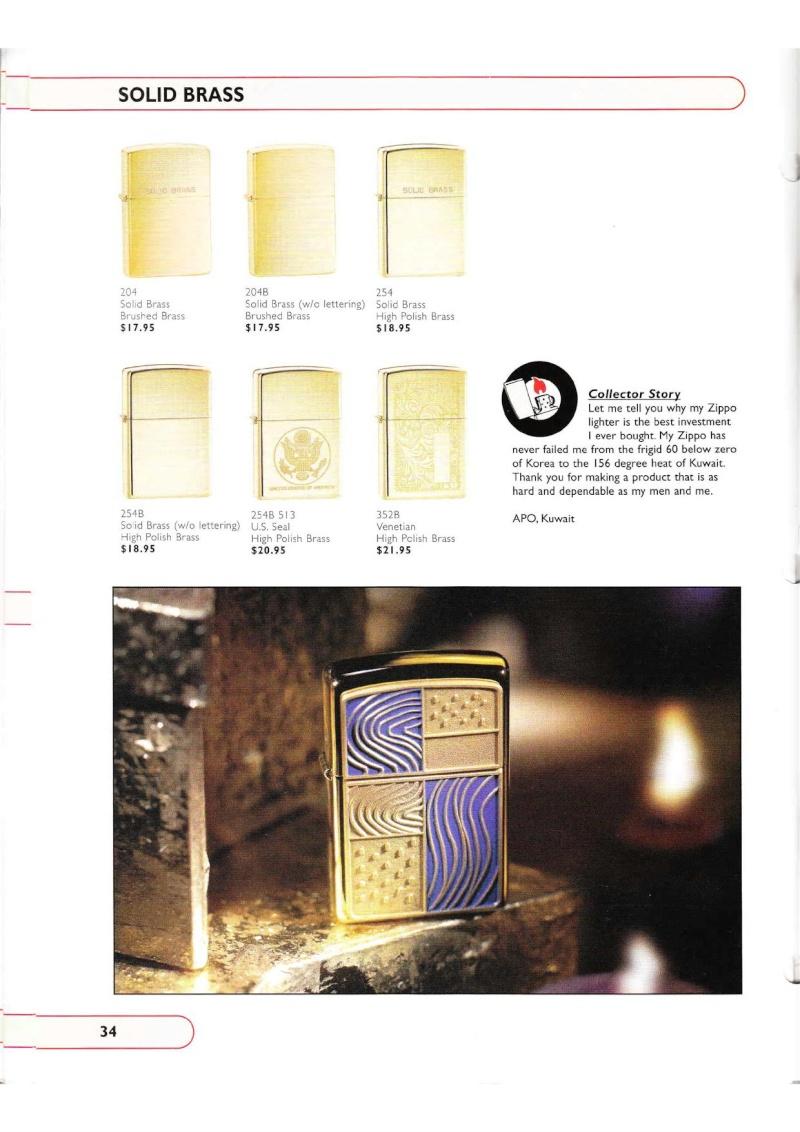 Catalogue ZIPPO Collection 2002 (version américaine) 3415