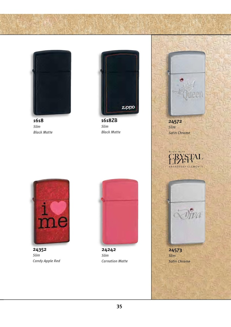 Catalogue ZIPPO 2010 Complete line (version américaine) 3513