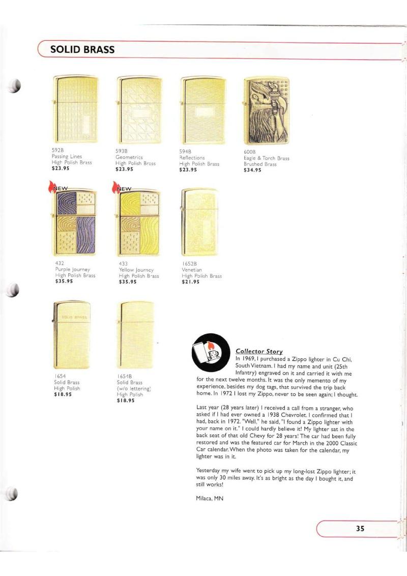 Catalogue ZIPPO Collection 2002 (version américaine) 3515