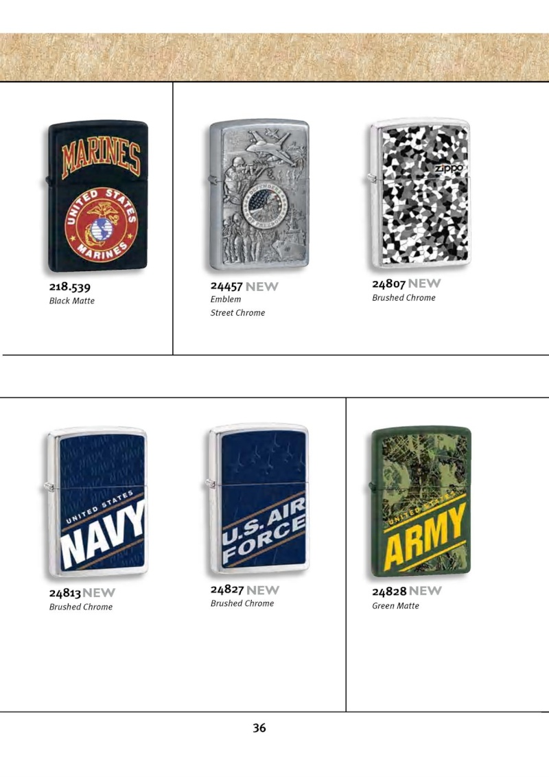 Catalogue ZIPPO 2010 Complete line (version américaine) 3613