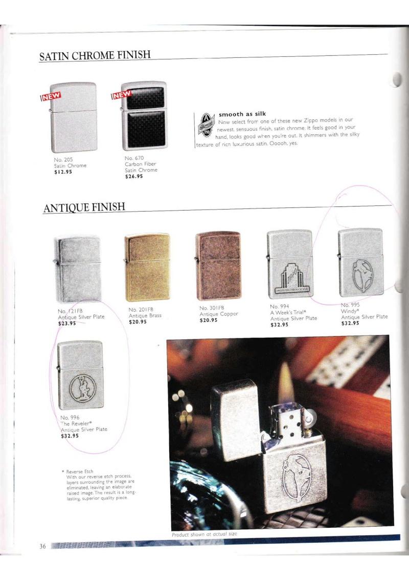 Catalogue ZIPPO Collection 2000 (version américaine) 3614