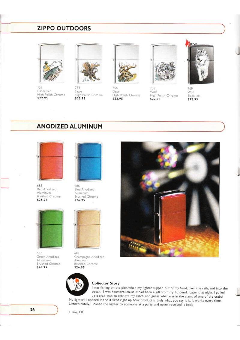 Catalogue ZIPPO Collection 2002 (version américaine) 3615