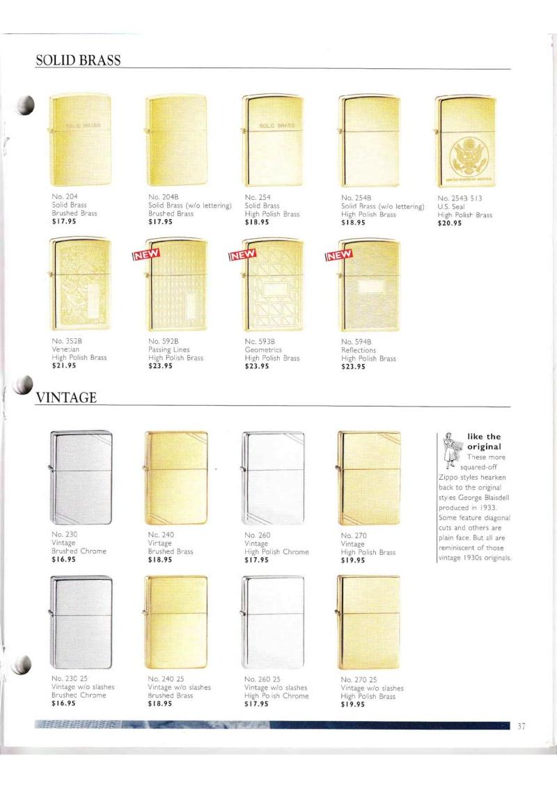 Catalogue ZIPPO Collection 2000 (version américaine) 3714