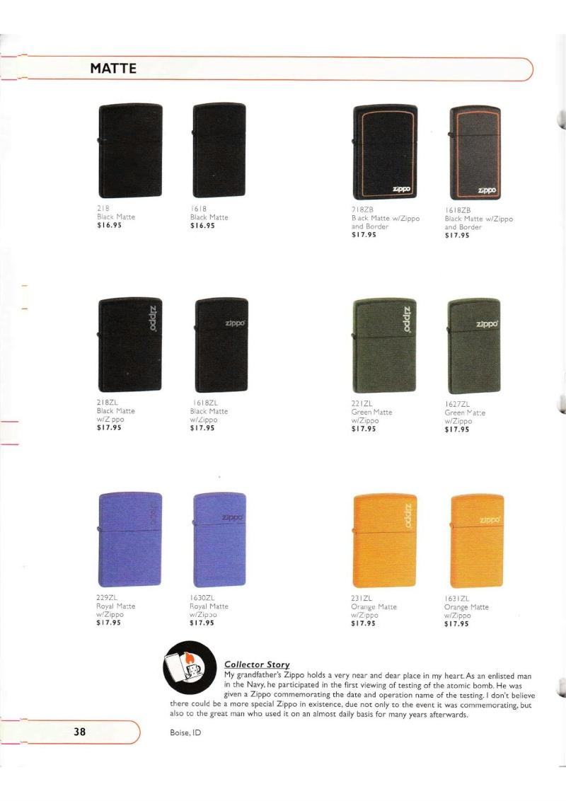 Catalogue ZIPPO Collection 2002 (version américaine) 3815