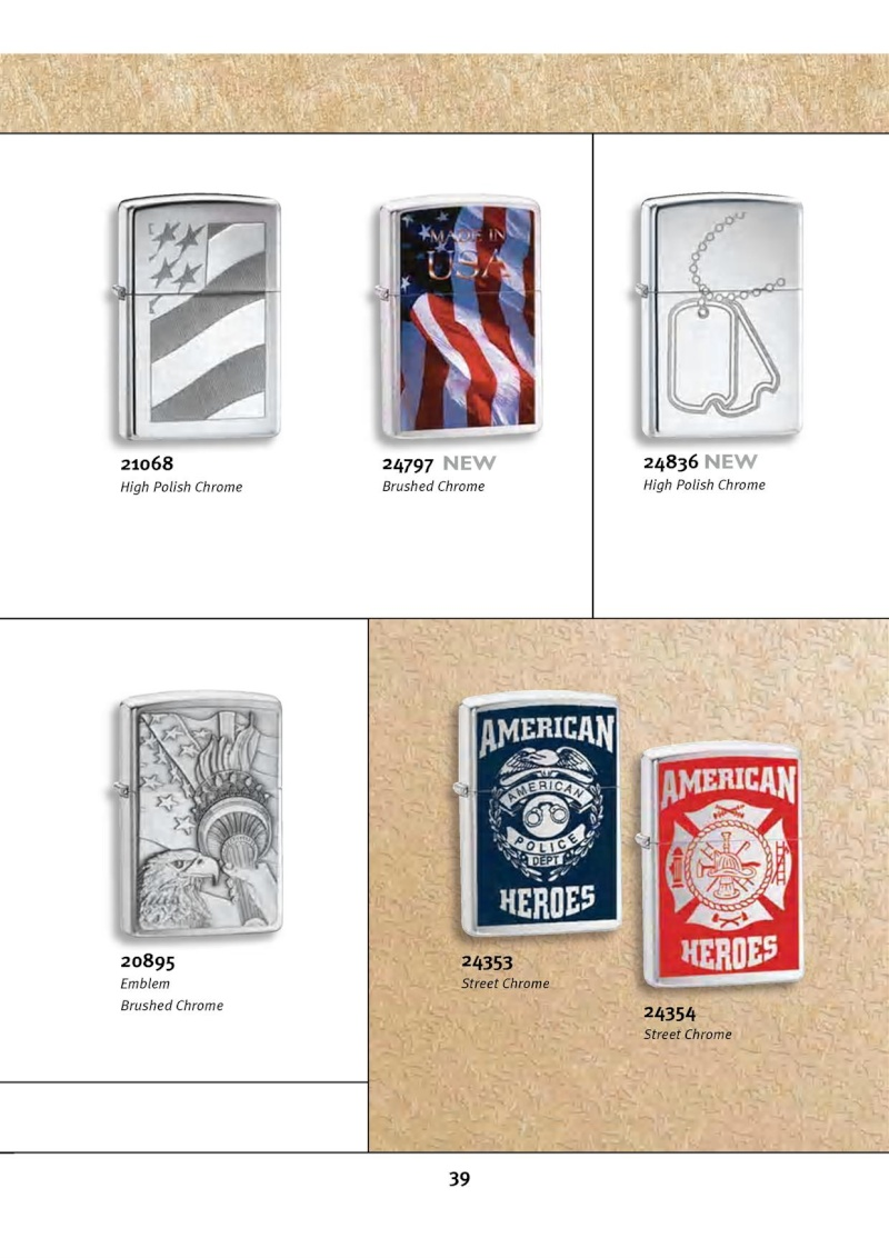Catalogue ZIPPO 2010 Complete line (version américaine) 3913