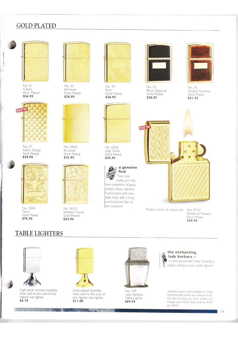 Catalogue ZIPPO Collection 2000 (version américaine) 3914