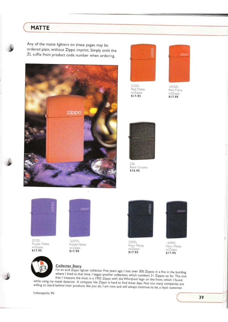 Catalogue ZIPPO Collection 2002 (version américaine) 3915