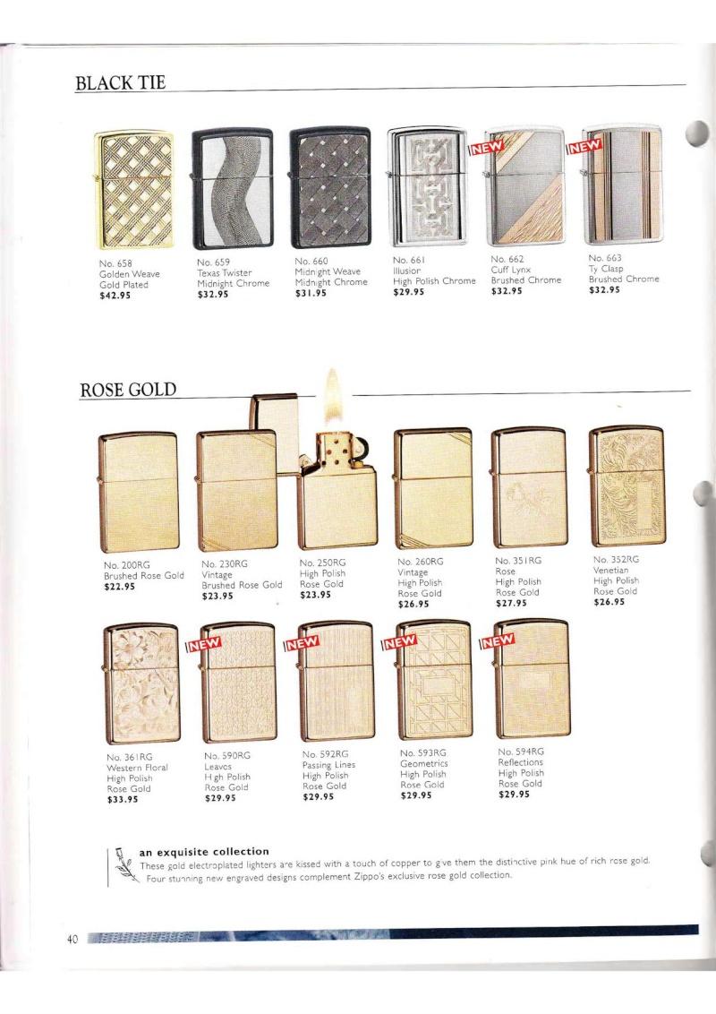 Catalogue ZIPPO Collection 2000 (version américaine) 4015
