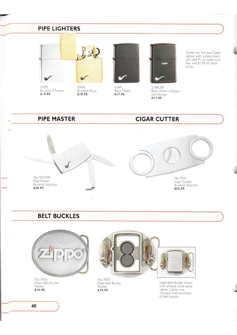 Catalogue ZIPPO Collection 2002 (version américaine) 4016