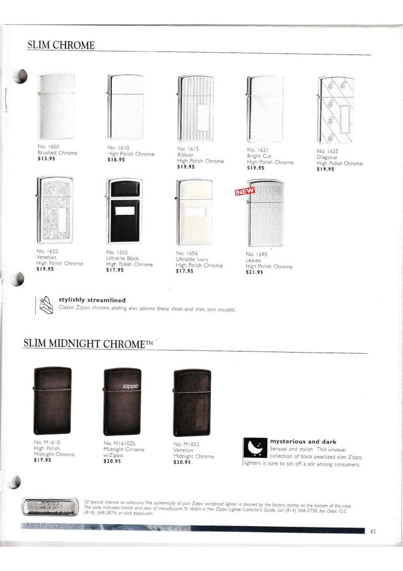 Catalogue ZIPPO Collection 2000 (version américaine) 4115