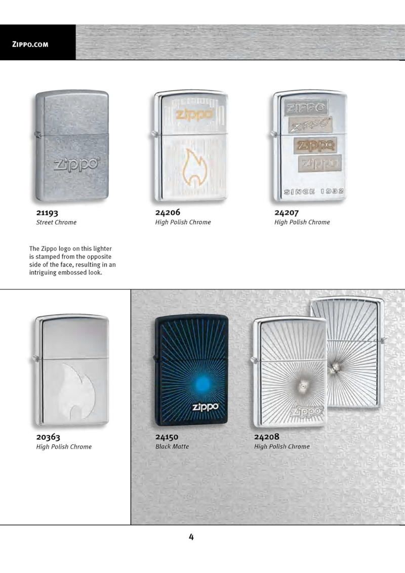 Catalogue ZIPPO 2010 Complete line (version américaine) 413