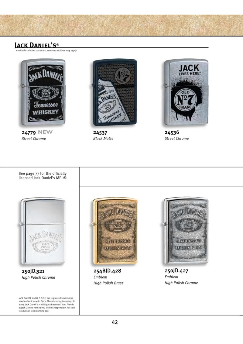 Catalogue ZIPPO 2010 Complete line (version américaine) 4213