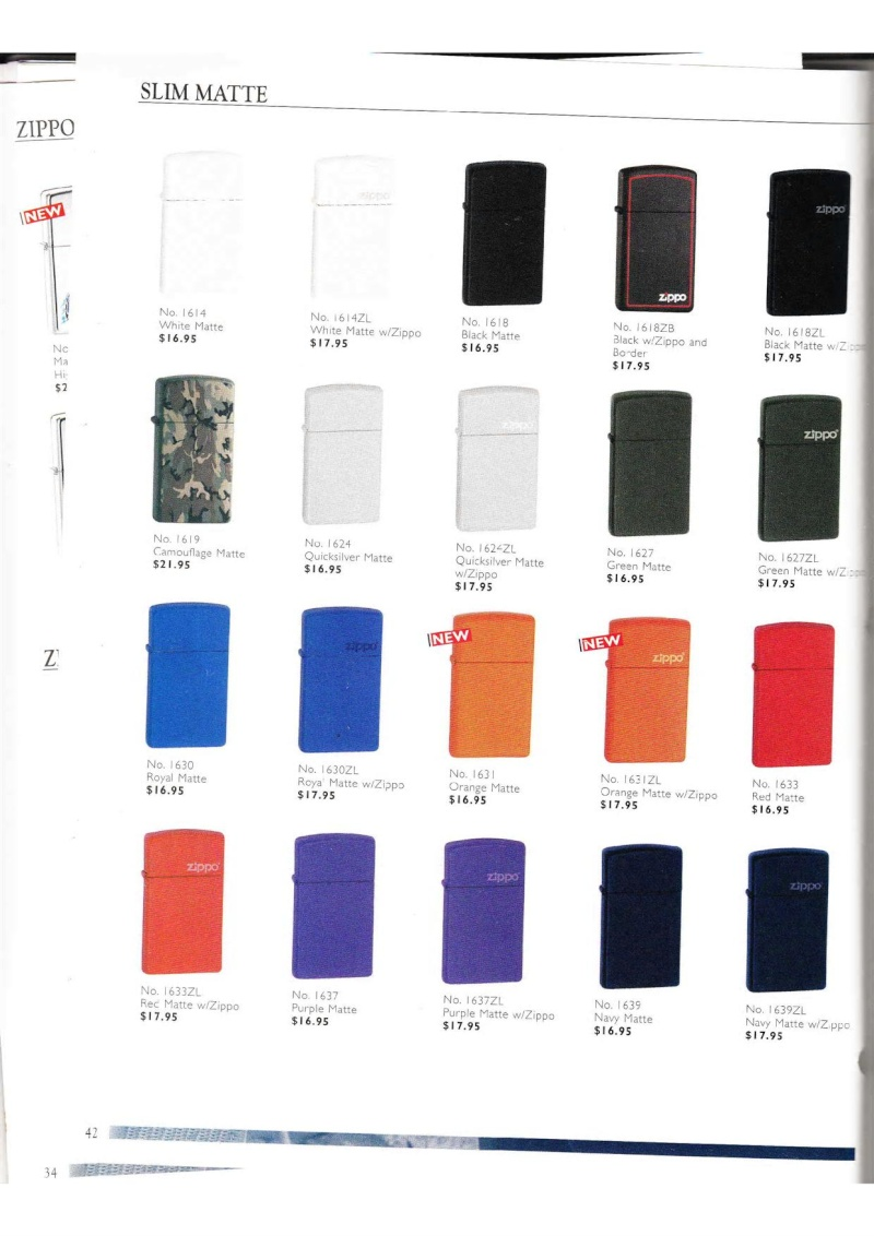Catalogue ZIPPO Collection 2000 (version américaine) 4214