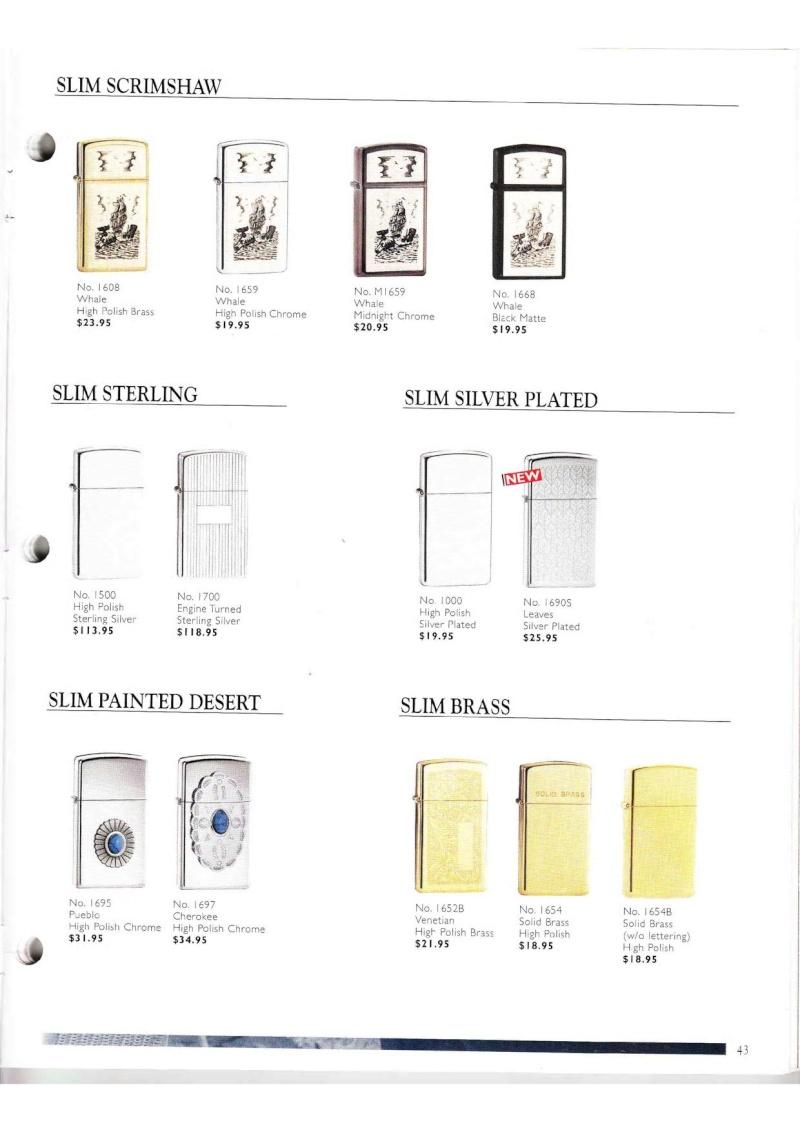 Catalogue ZIPPO Collection 2000 (version américaine) 4314