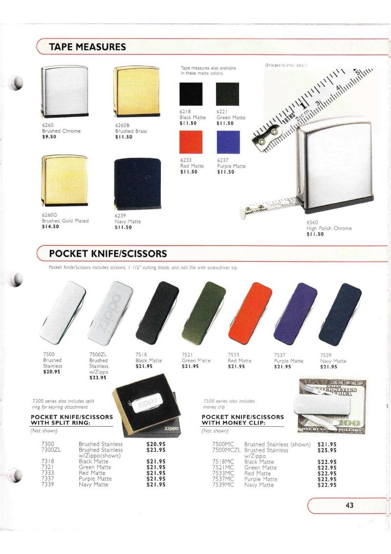 Catalogue ZIPPO Collection 2002 (version américaine) 4315
