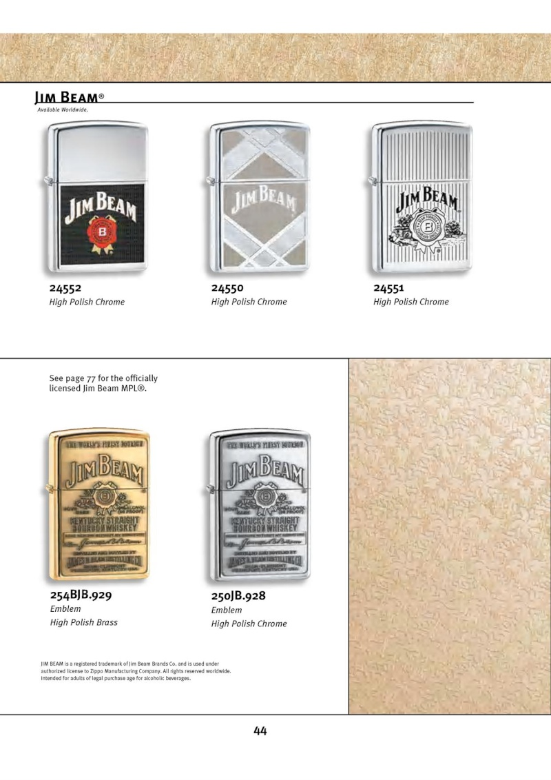 Catalogue ZIPPO 2010 Complete line (version américaine) 4412