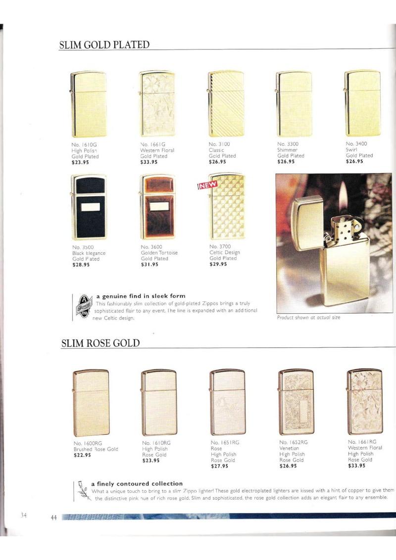 Catalogue ZIPPO Collection 2000 (version américaine) 4413