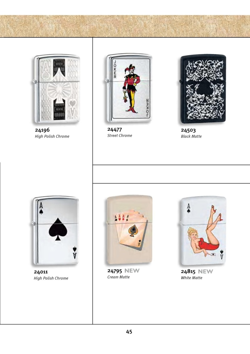 Catalogue ZIPPO 2010 Complete line (version américaine) 4513