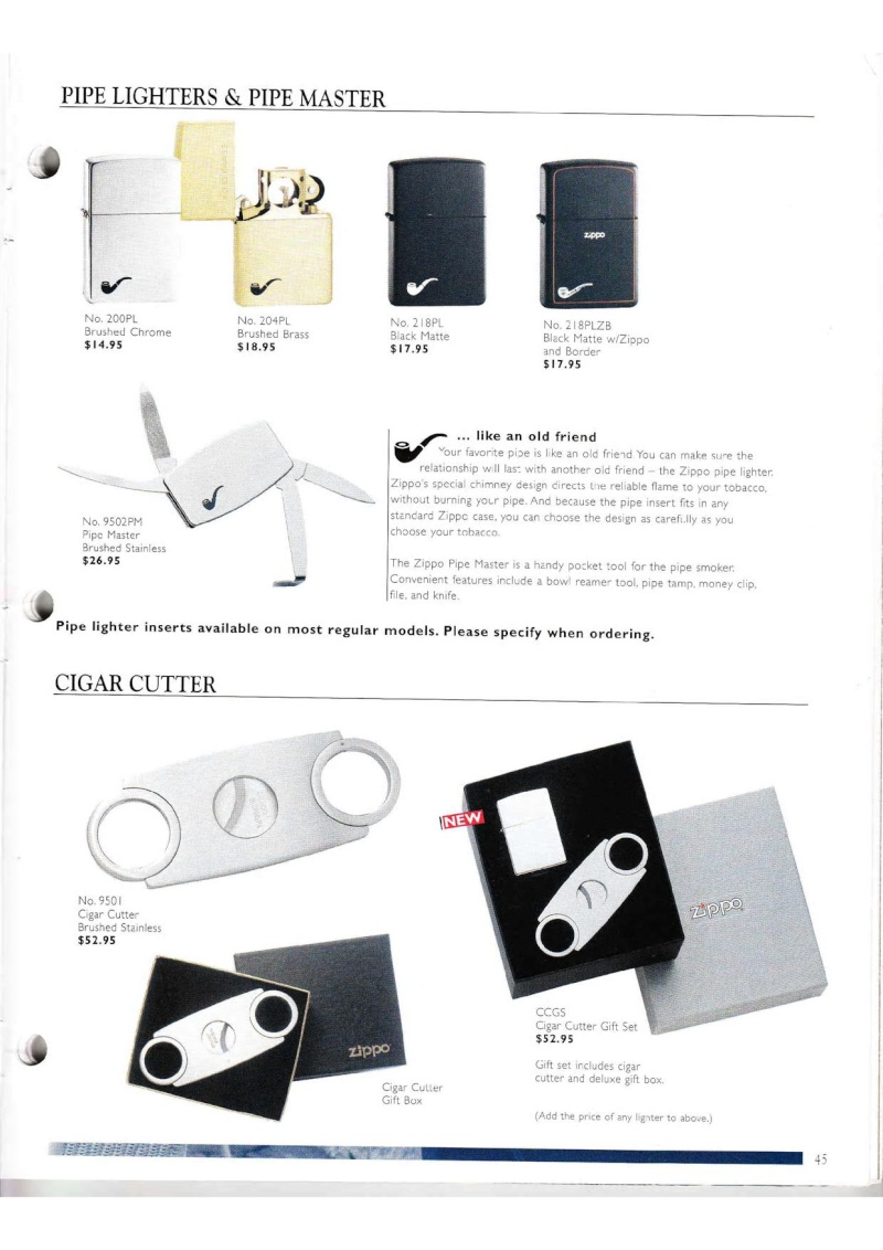 Catalogue ZIPPO Collection 2000 (version américaine) 4514